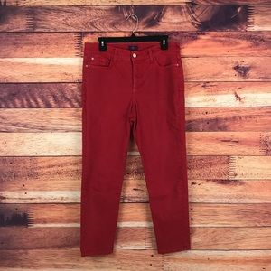 Not Your Daughter's Jeans Red Ankle Skinny Jeans
